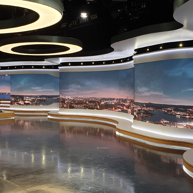 LED-Videowände P1.8 für SVT-Fernsehsender, Stockholm
